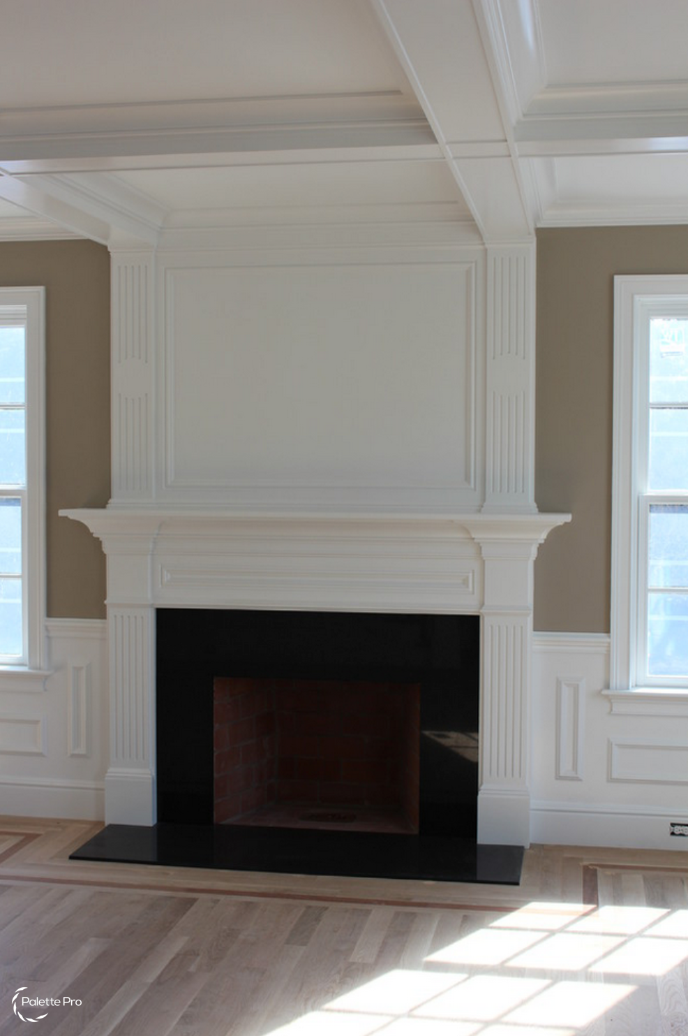 Fireplace Mantel Carpentry & Painting 01
