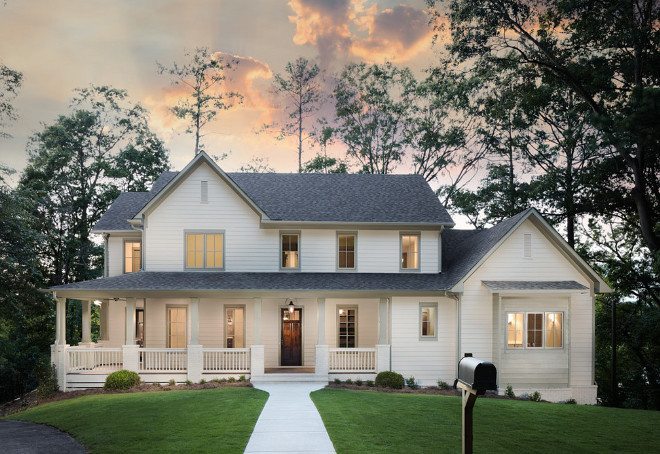 How to pick exterior house colors for your home palette pro - Benjamin moore gray mist exterior ...